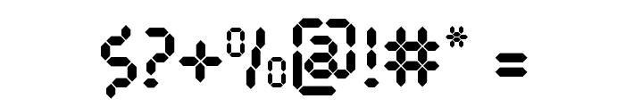 Pocket Calculator Font OTHER CHARS