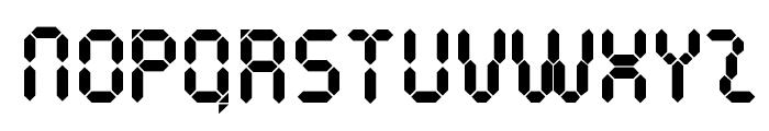 Pocket Calculator Font UPPERCASE