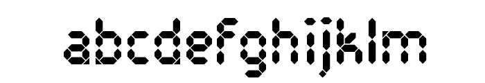 Pocket Calculator Font LOWERCASE