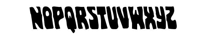 Pocket Monster Leftalic Font UPPERCASE