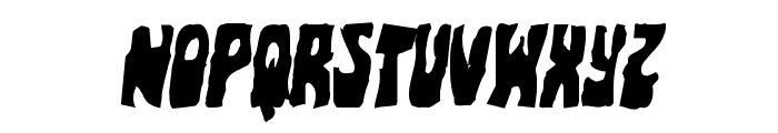 Pocket Monster Mangled Italic Font UPPERCASE