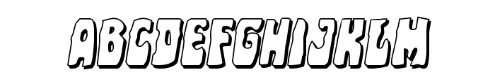 Pocket Monster Shadow Italic Font LOWERCASE