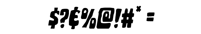 Pocket Monster Staggered Italic Font OTHER CHARS