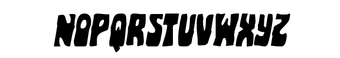 Pocket Monster Staggered Italic Font LOWERCASE