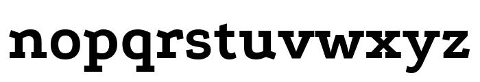Podkova ExtraBold Font LOWERCASE