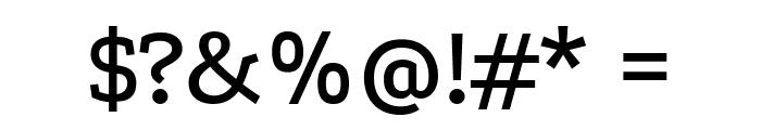 Podkova Medium Font OTHER CHARS