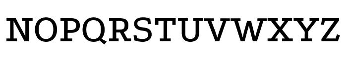 Podkova Medium Font UPPERCASE