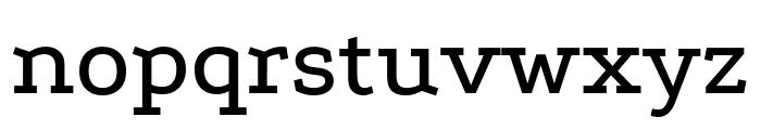 Podkova Medium Font LOWERCASE