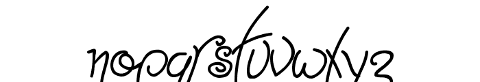 Point-Dexter Font LOWERCASE