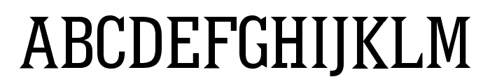 Pointed Font UPPERCASE