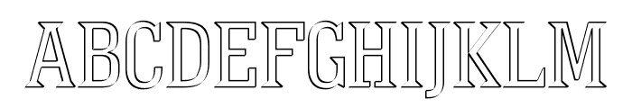 PointedOut Font UPPERCASE