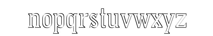 PointedOut Font LOWERCASE