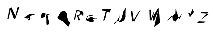 Pointer ExtraCondensed Oblique Font UPPERCASE