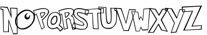 Pokemon Hollow Normal Font UPPERCASE