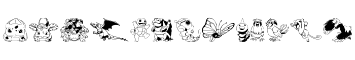 Pokemon Kiddy Ding Font UPPERCASE