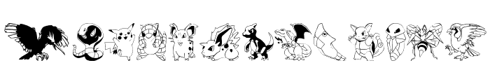Pokemon Kiddy Ding Font LOWERCASE