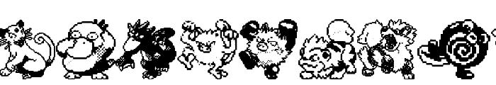 Pokemon pixels 1 Font OTHER CHARS