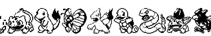 Pokemon pixels 1 Font UPPERCASE