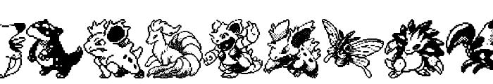 Pokemon pixels 1 Font LOWERCASE