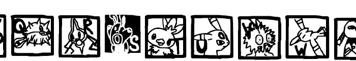 Pokemon ! Font UPPERCASE