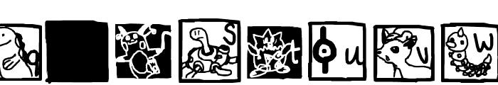 Pokemon ! Font LOWERCASE