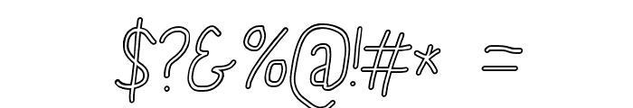 PolanStronk Snieg Italic Font OTHER CHARS