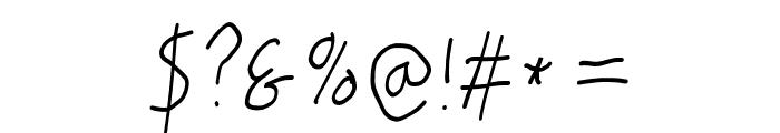 PolanWritings Narrow Italic Font OTHER CHARS