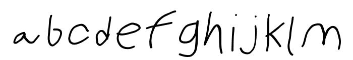PolanWritings Wide Italic Font LOWERCASE