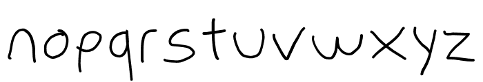 PolanWritings Wide Font LOWERCASE