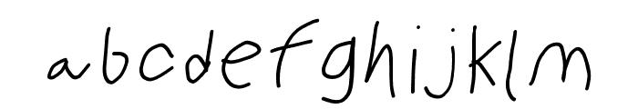 PolanWritings italic Font LOWERCASE