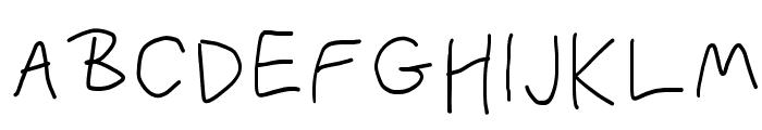 PolanWritings Font UPPERCASE