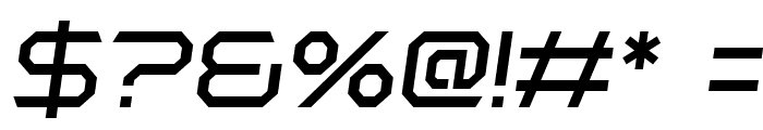 Polentical Neon Italic Font OTHER CHARS