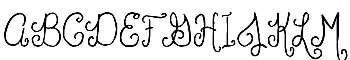 Polite Script Font UPPERCASE