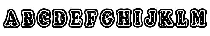 PolkaLetterStamp Font UPPERCASE