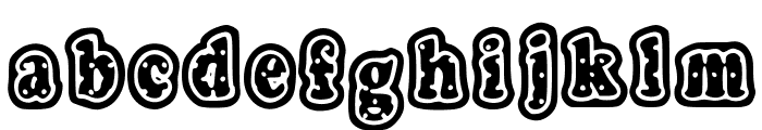 PolkaLetterStamp Font LOWERCASE