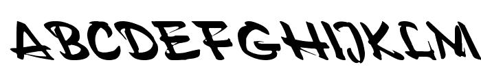 Polo Semi Script Leftified Font UPPERCASE