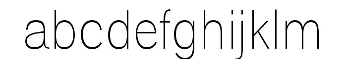 Polt Light Font LOWERCASE