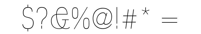 Polt Ultra Light Font OTHER CHARS