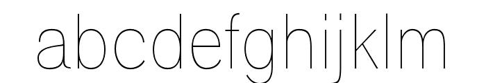 Polt Ultra Light Font LOWERCASE