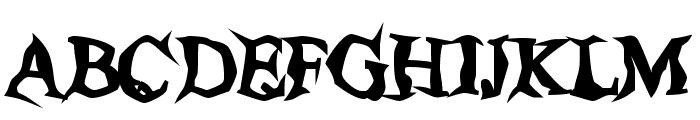 Poltergeist Thick Font UPPERCASE