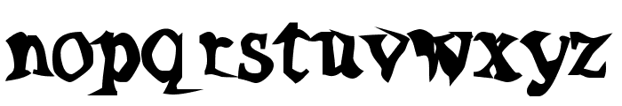 Poltergeist Thick Font LOWERCASE