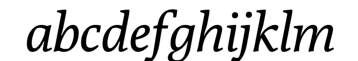 Poly-Italic Font LOWERCASE