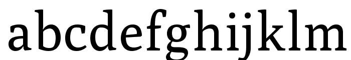 Poly-Regular Font LOWERCASE