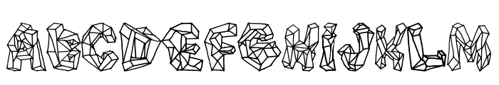 Polygons Regular Font UPPERCASE