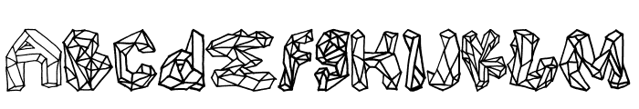 Polygons Regular Font LOWERCASE