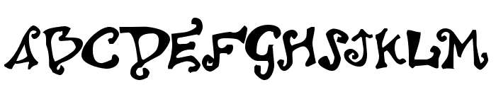 Polywog Font UPPERCASE