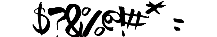 Pomah Type Font OTHER CHARS