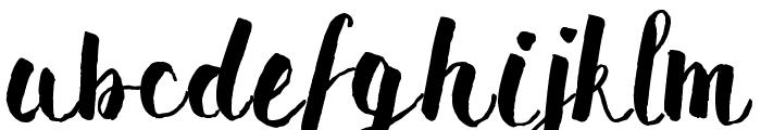 Pomah Type Font LOWERCASE