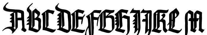 PommernGotisch Font UPPERCASE