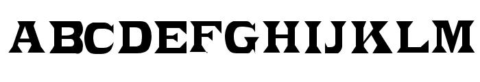 PonchoVia-Light Regular Font UPPERCASE